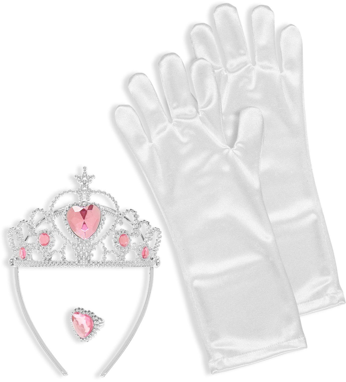 Sneeuwprinses ring, tiara en handschoenen