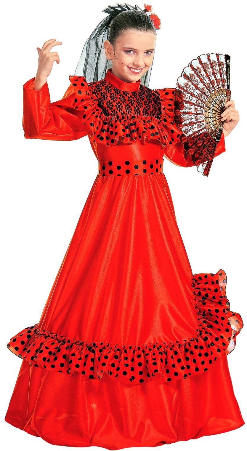 Spaanse flamenco jurk kind