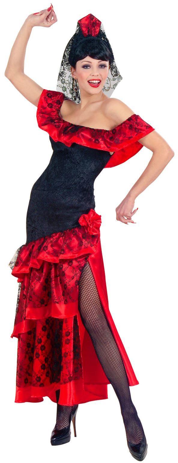 Spaanse señorita jurk