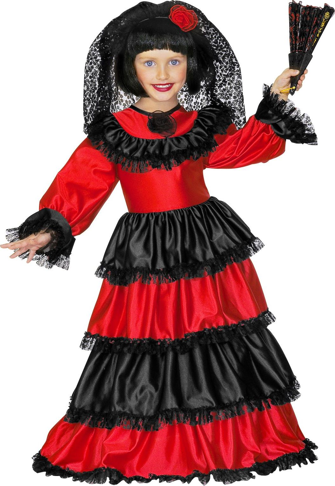 Spaanse señorita jurk kind