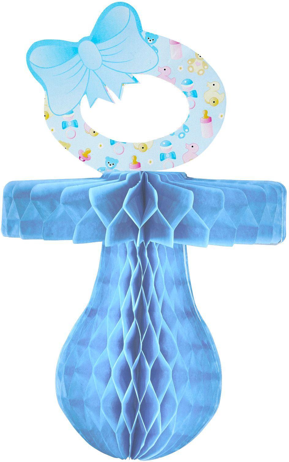 Speen decoratie blauw