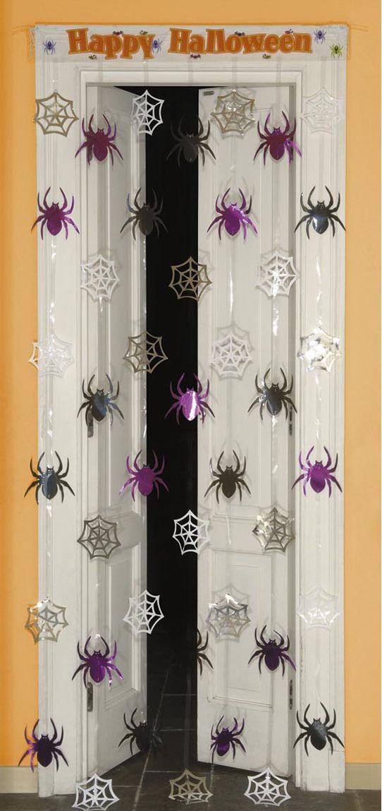 Spinnenweb en spinnen deurgordijn
