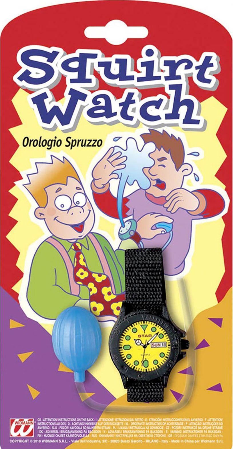 Spuitend nep horloge