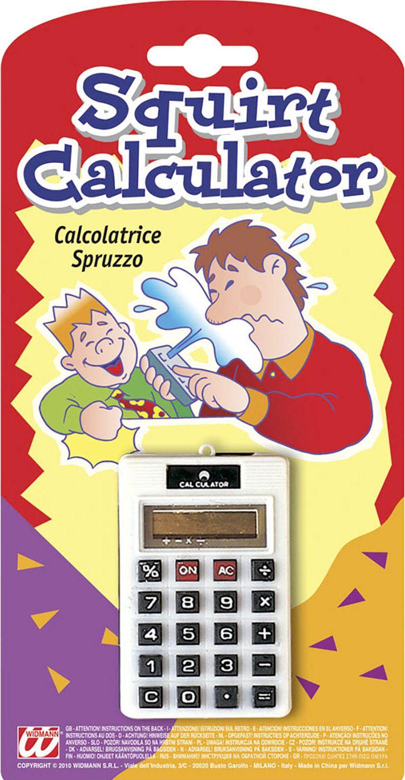 Spuitende fop rekenmachine