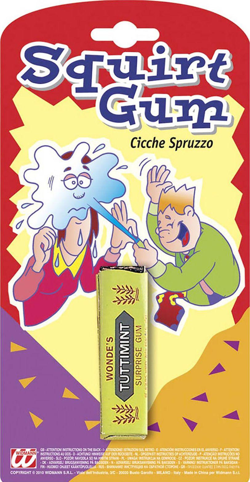 Spuitende nep kauwgom