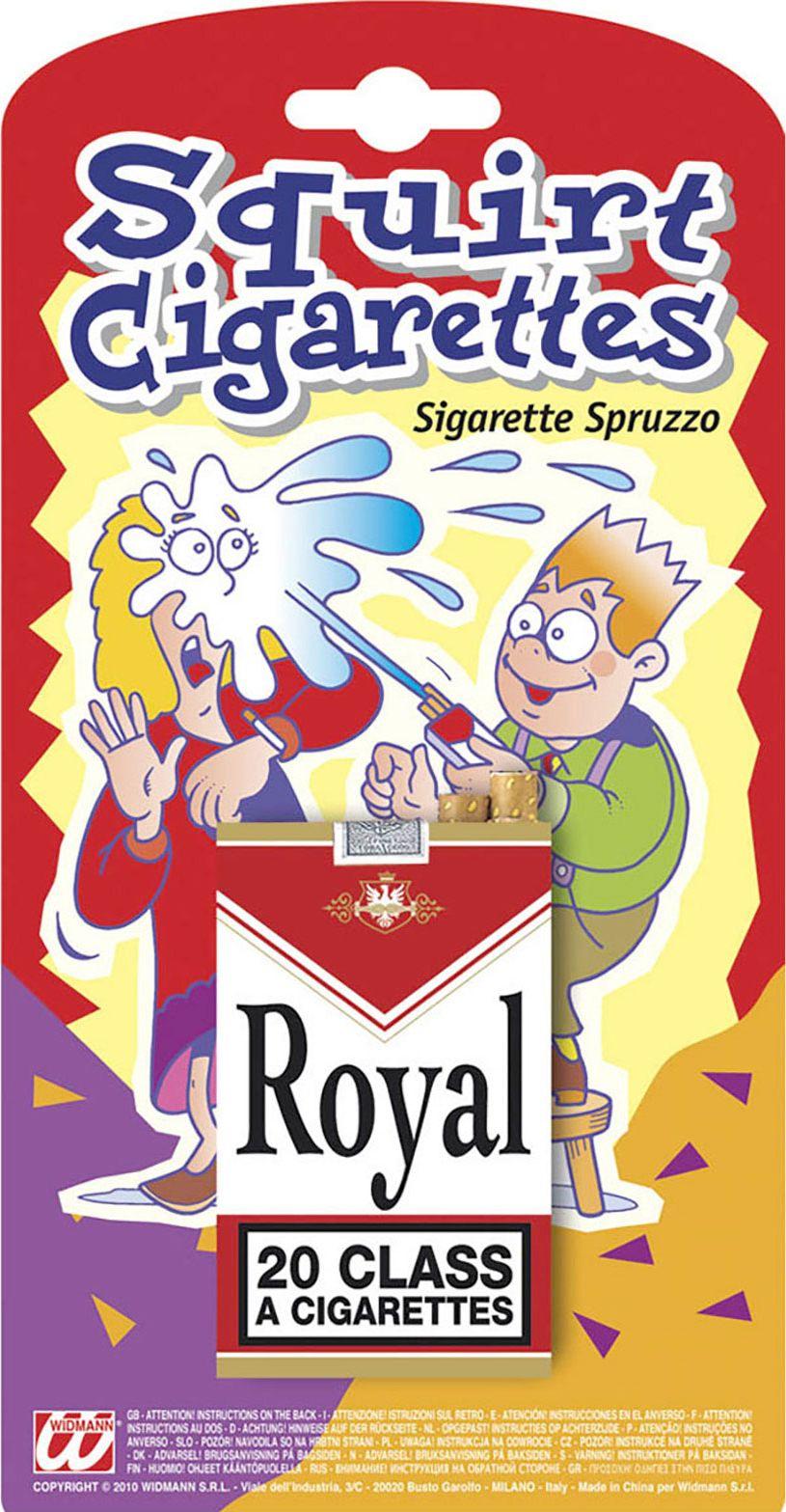 Spuitende nep sigarettendoos