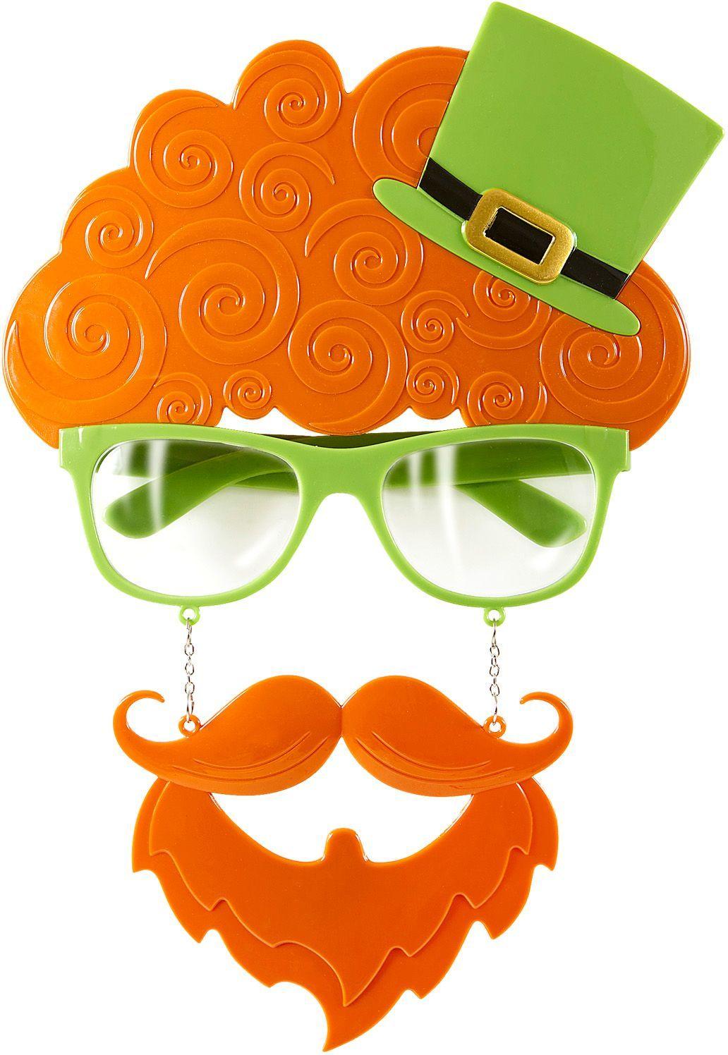 St. Patricksday bril met snor en baard