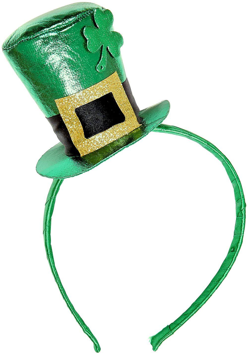 St. Patricksday hoofdband met mini hoedje