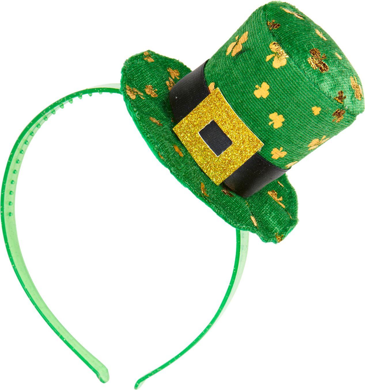St. Patricksday hoofdband met mini hoge hoed