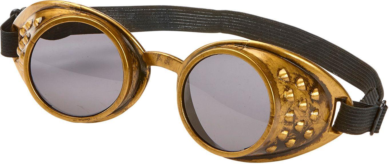 Steampunk bril bronzen