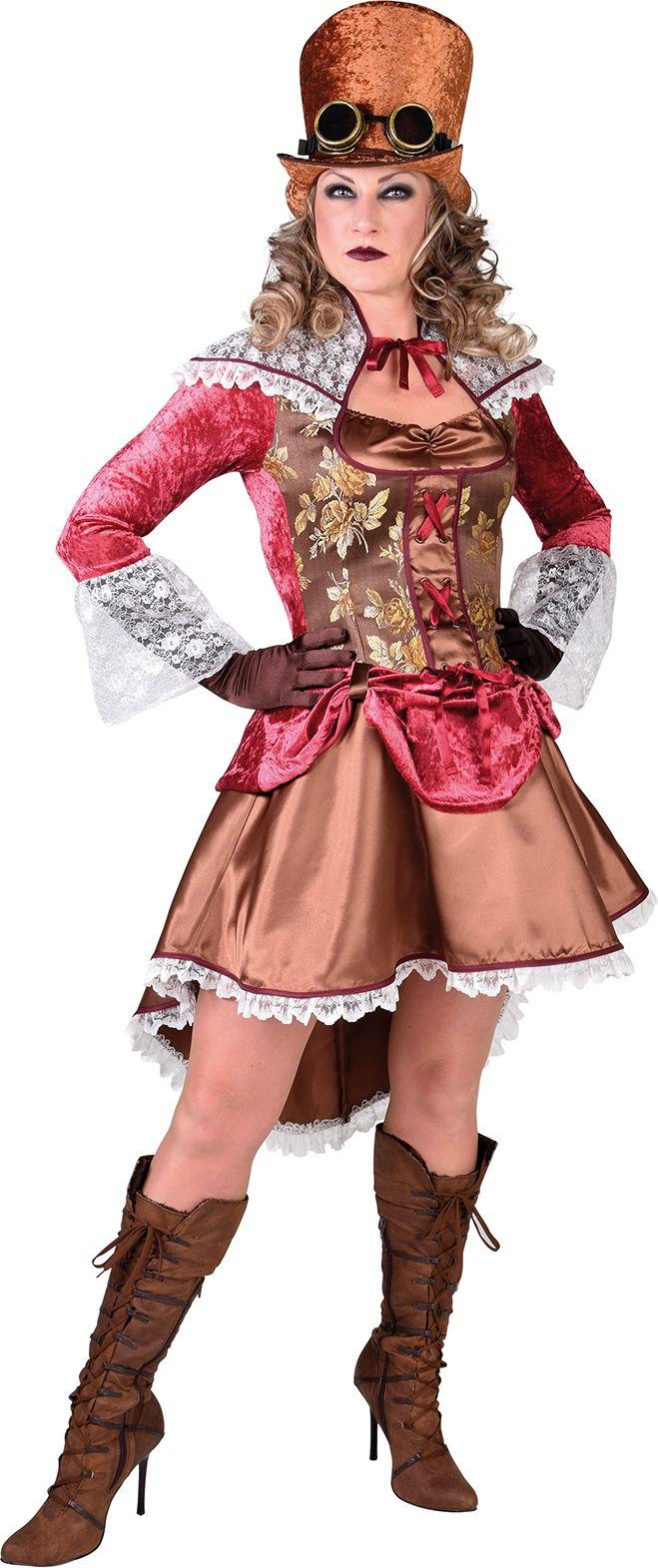 Steampunk jurk brons vrouwen