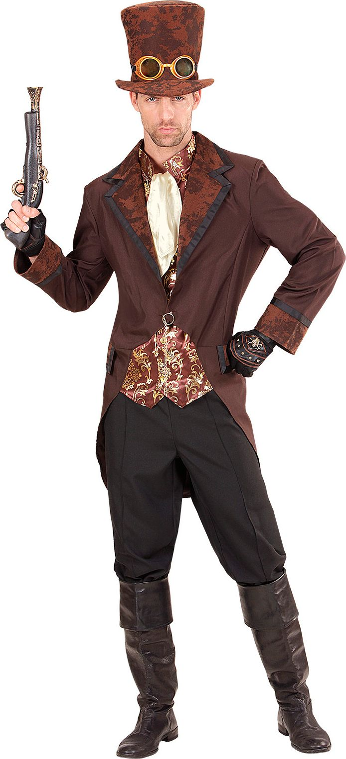 Steampunk kostuum bruin