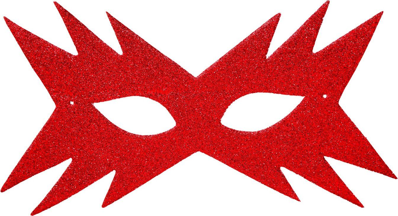 Ster oogmasker rood