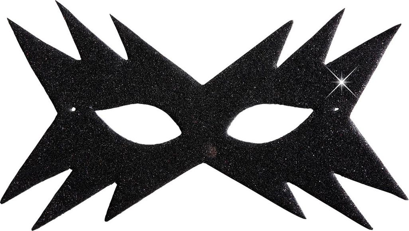 Ster oogmasker zwart