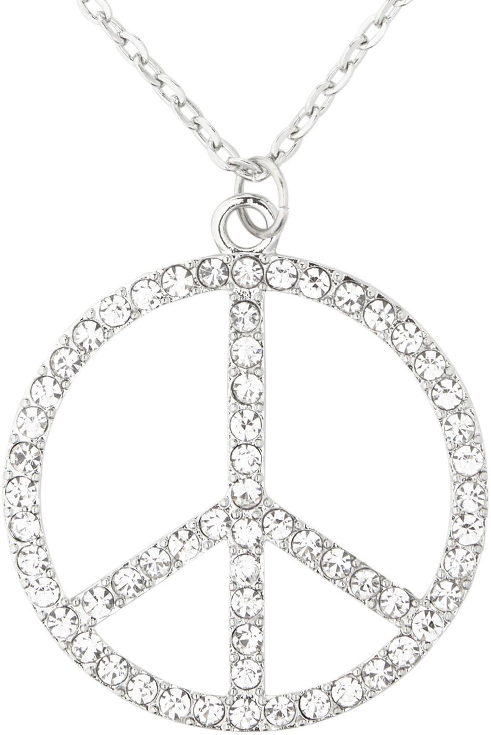 Strass hippie ketting