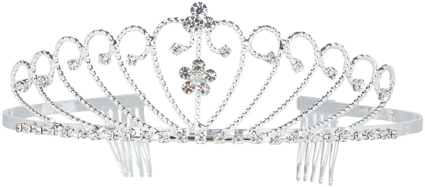 Strass tiara zilver