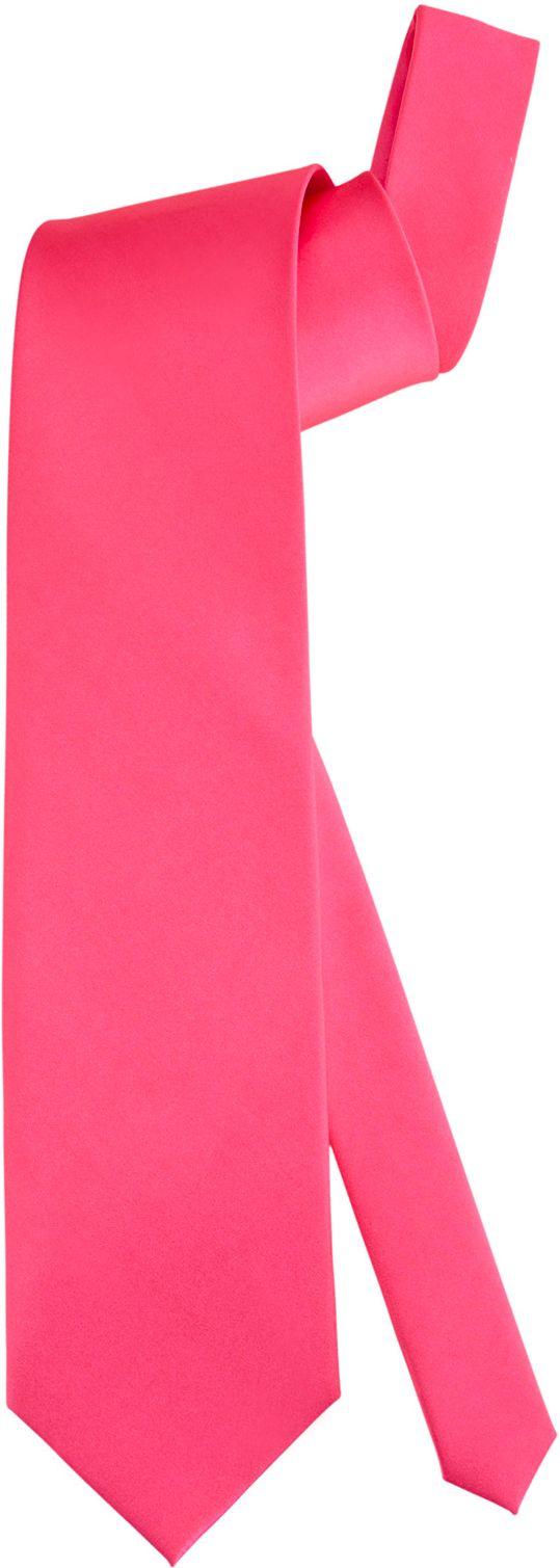 Stropdas neon roze
