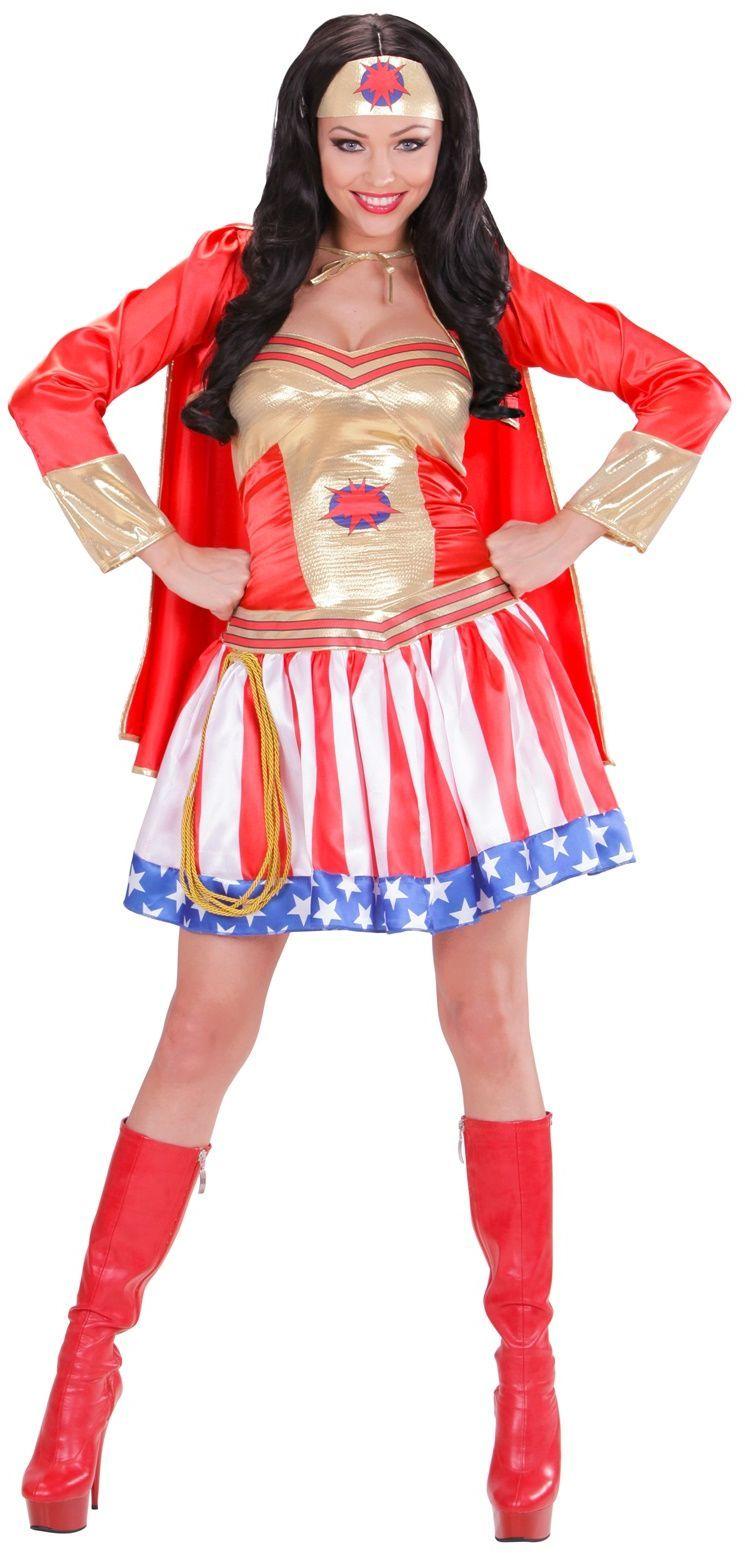 Superheldin kostuum