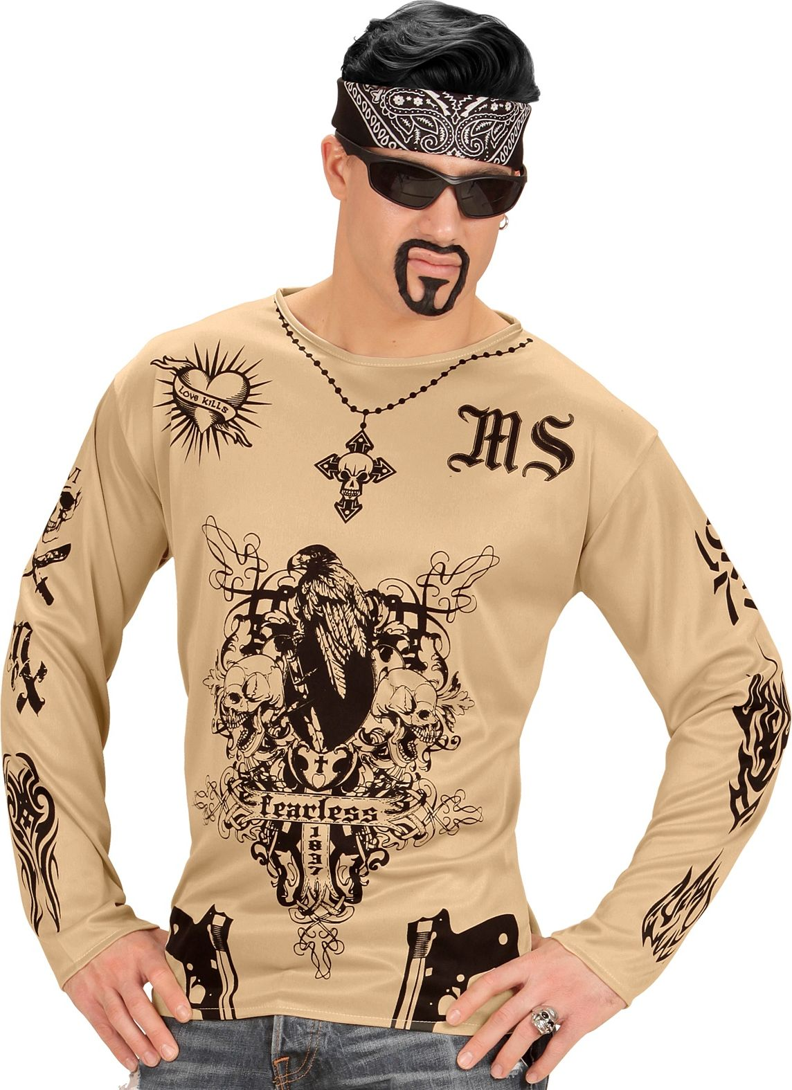 Tattoo shirt gangster