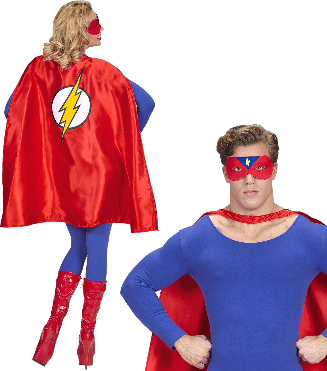 The Flash cape met oogmasker One-size-volwassenen