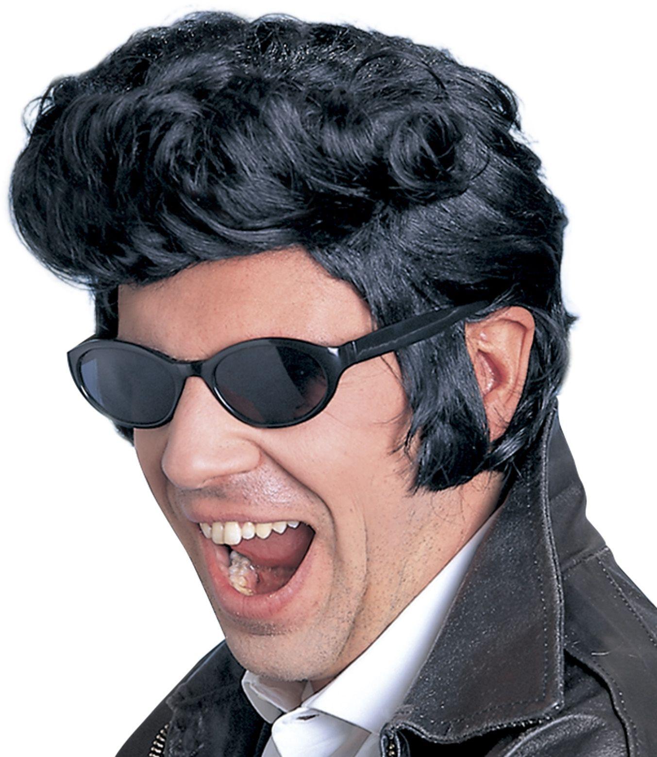 The King Elvis pruik zwart