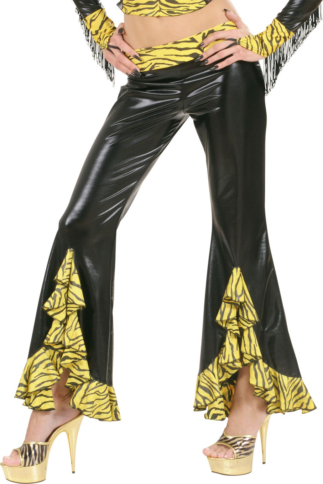 Tijger print broek dames