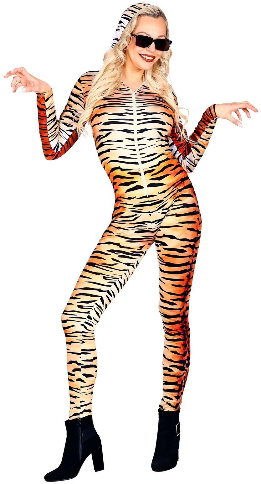 Tijgerprint catsuit vrouw