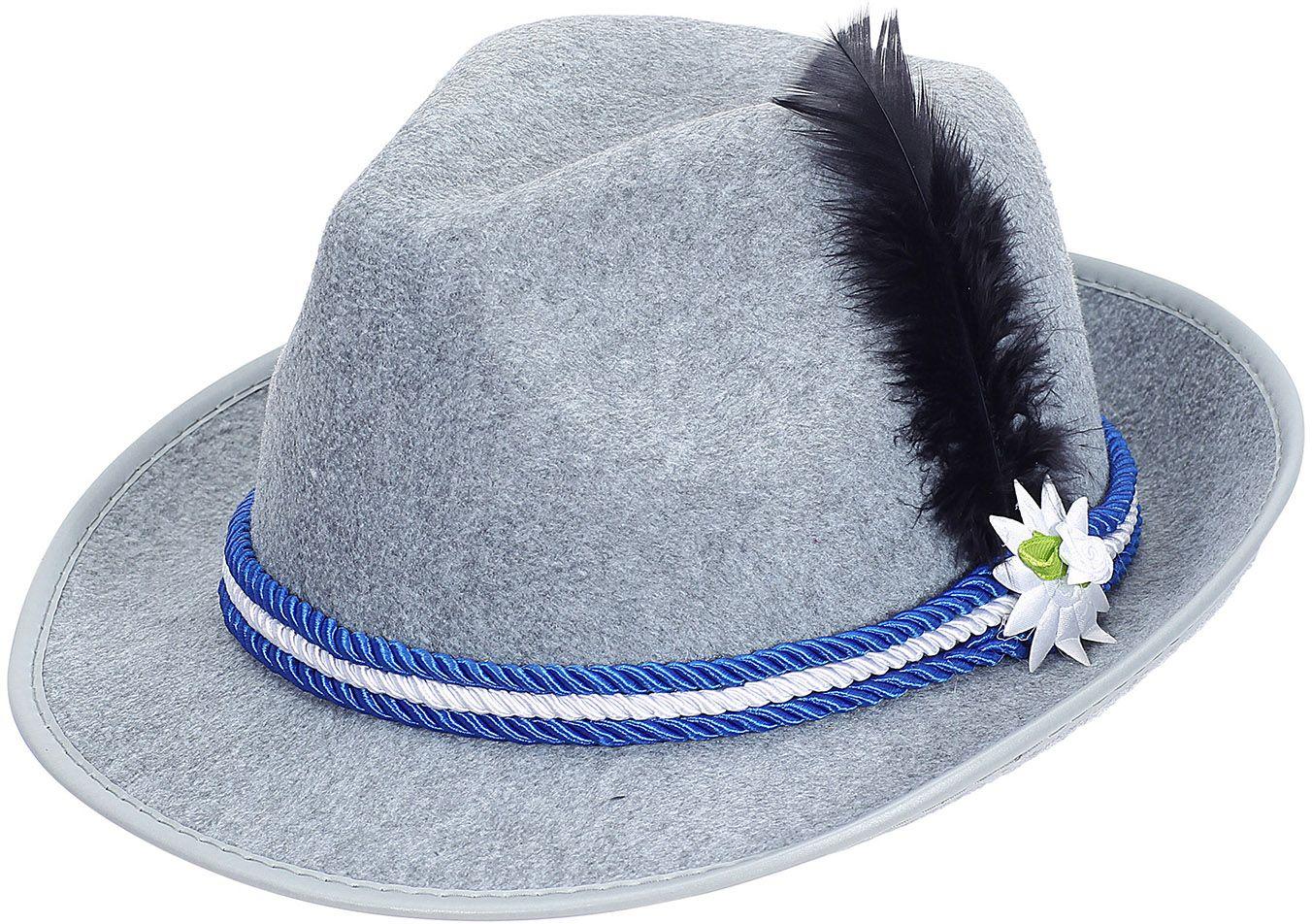Tiroler hoedje Wiezenfest grijs