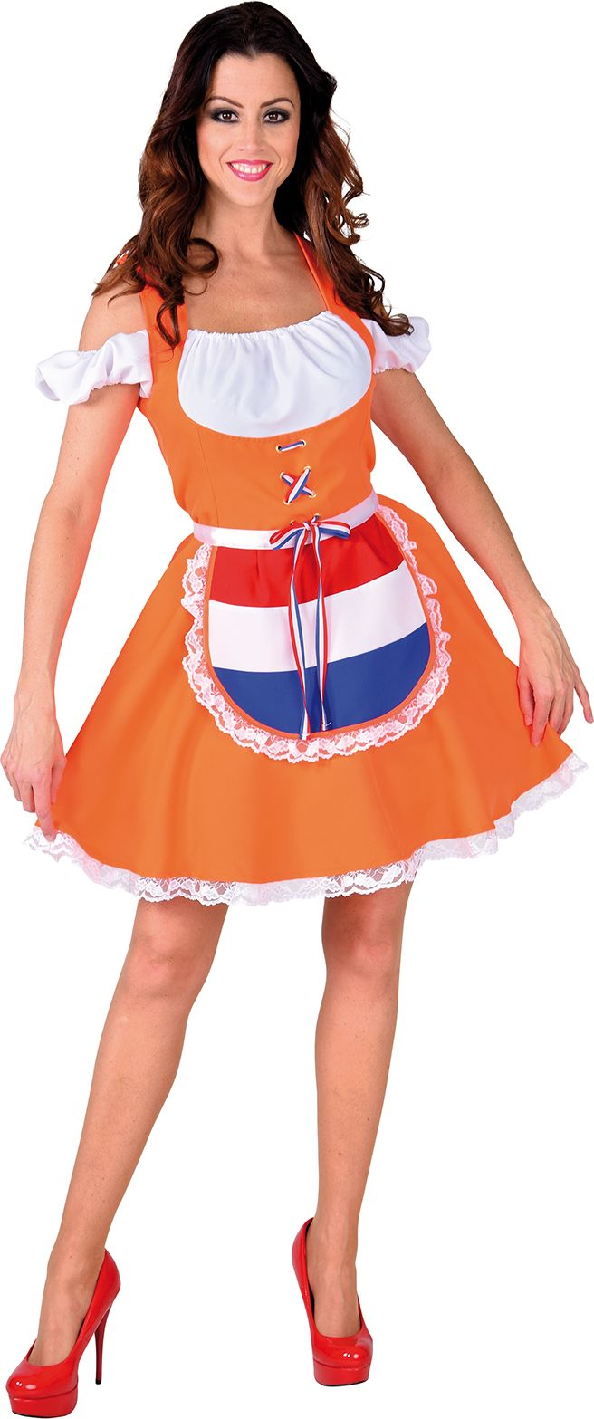 Tiroler jurk Nederlands oranje vrouwen