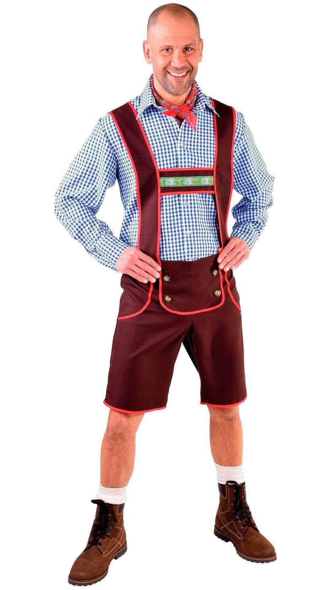 Tiroler lederhosen heren bruin