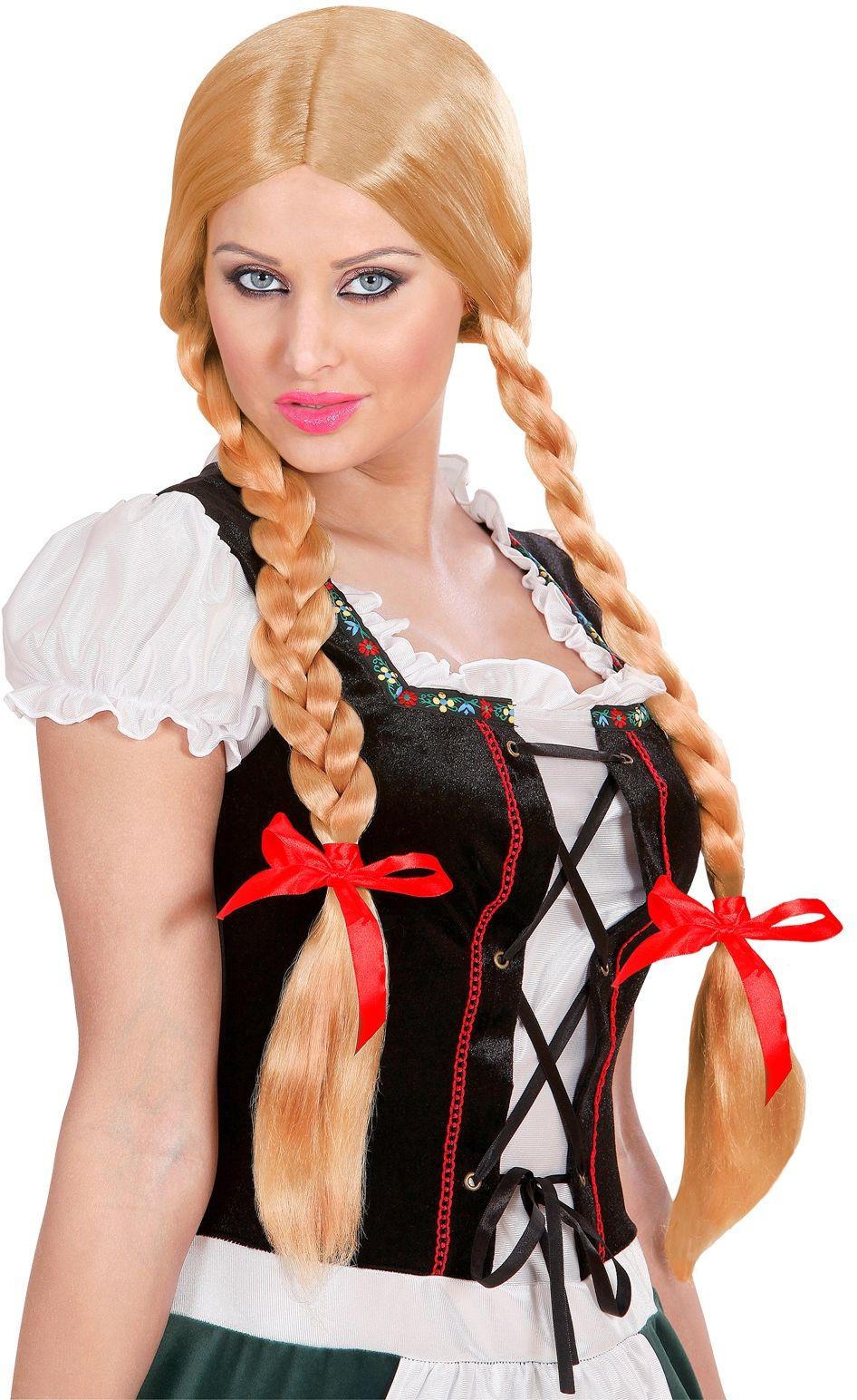 Tiroler pruik blond
