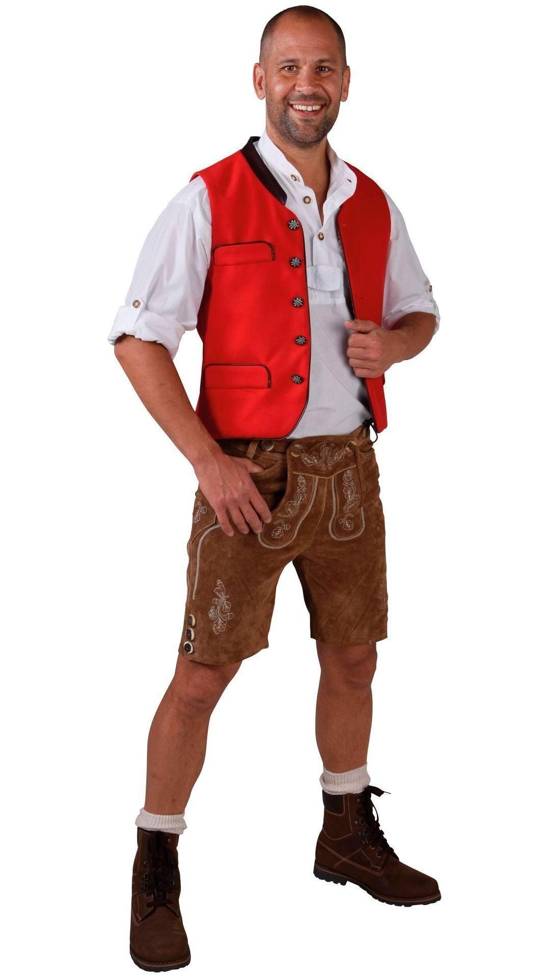 Tiroler vest rood man