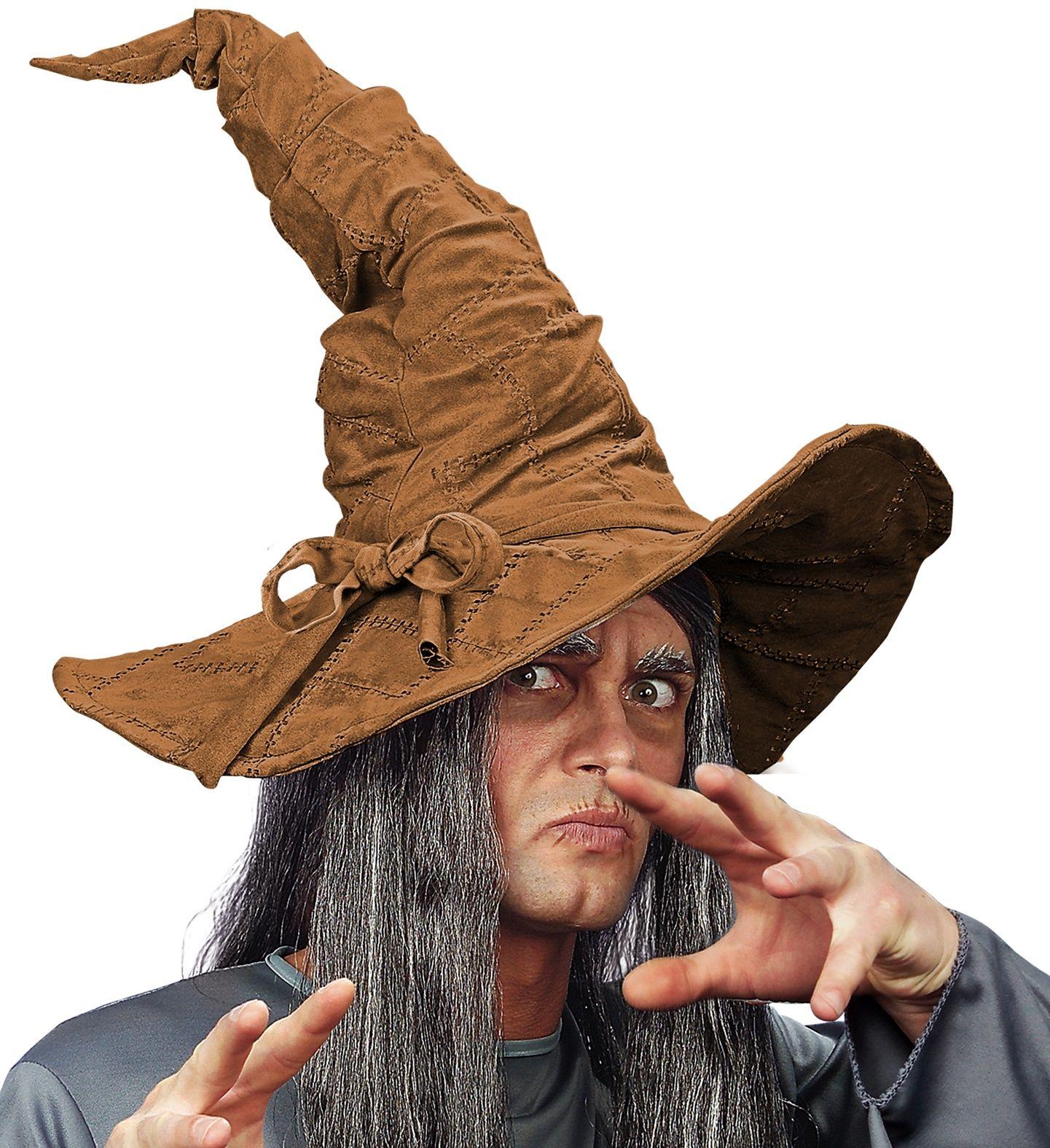 Tovenaar hoed bruin