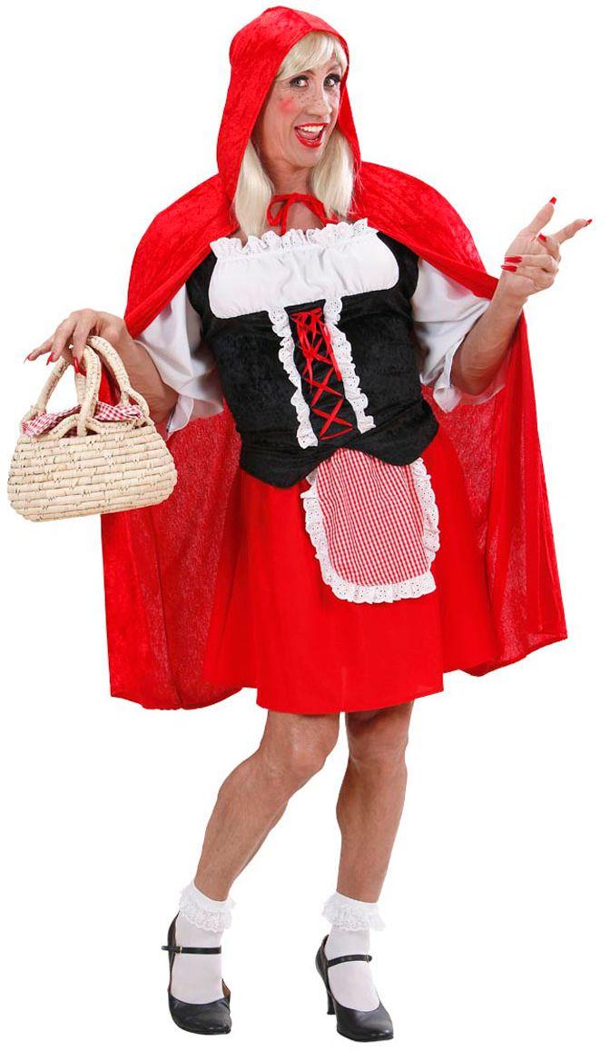 Travestiet roodkapje kleding
