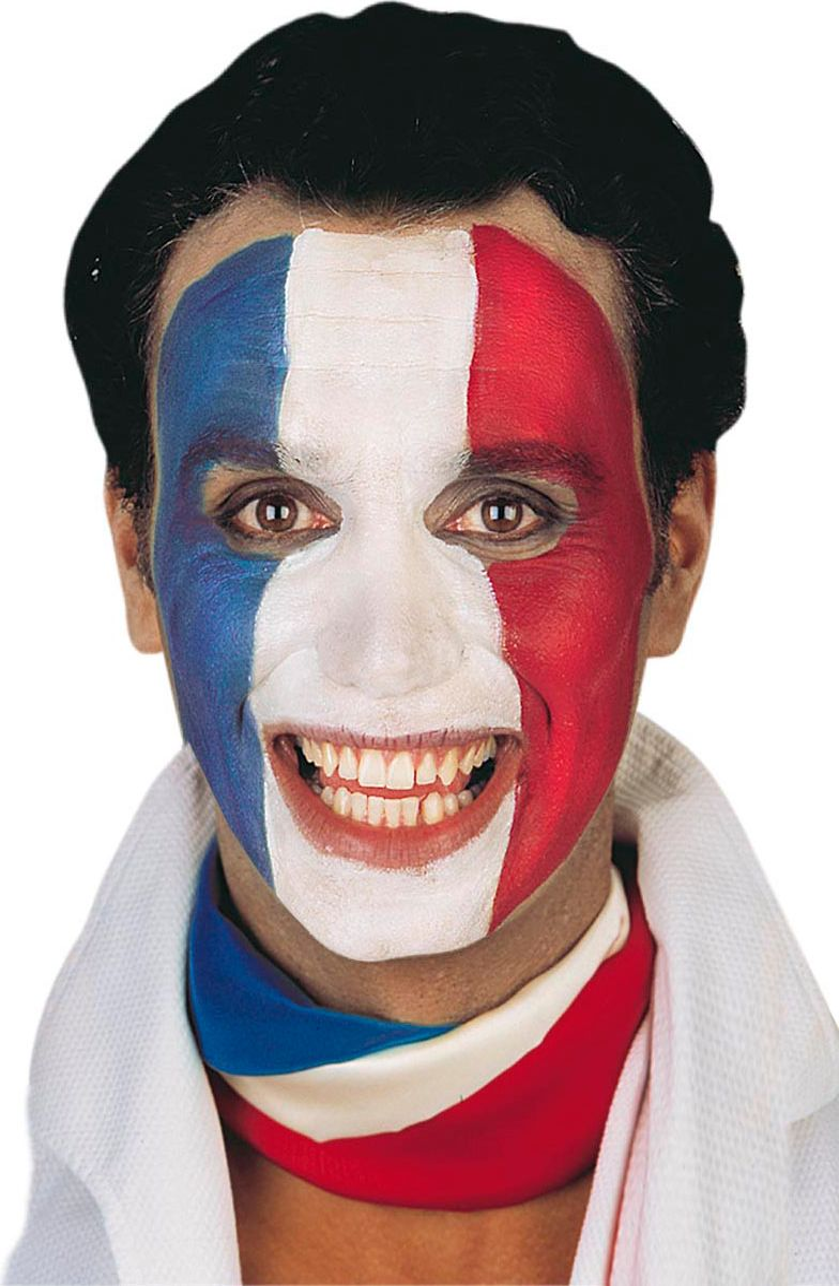 Tricolor schmink set blauw rood wit