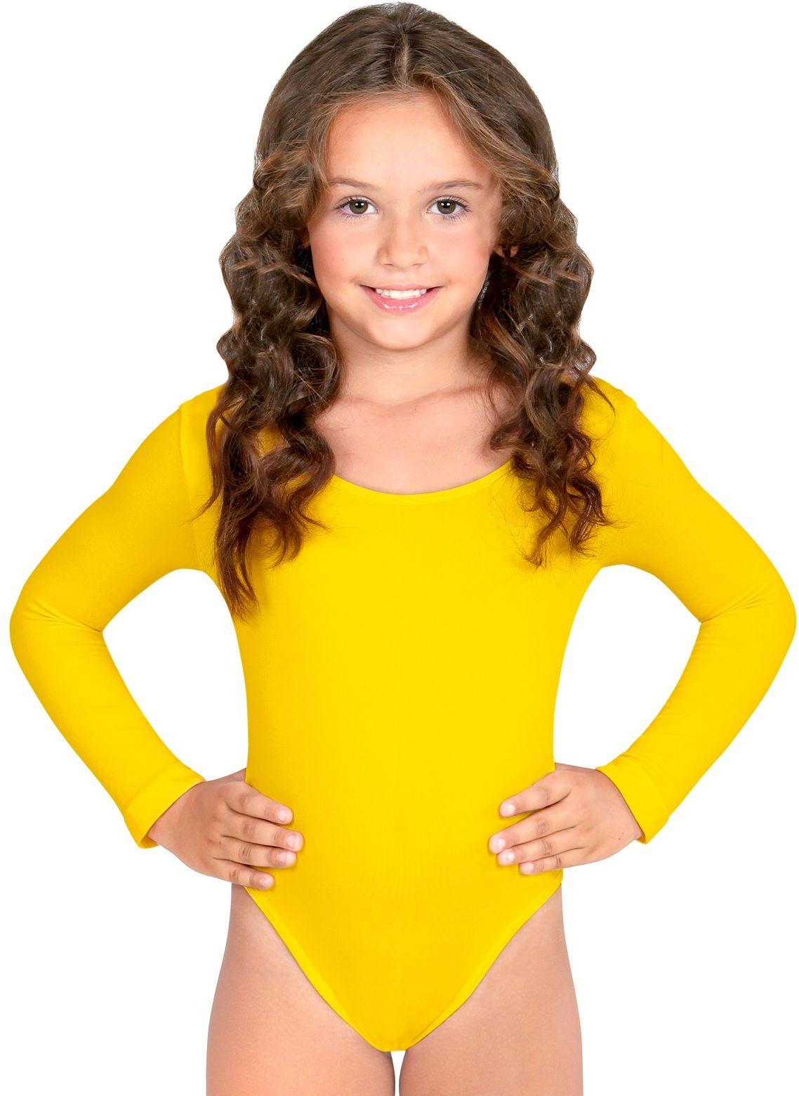 Turnpak meisjes geel