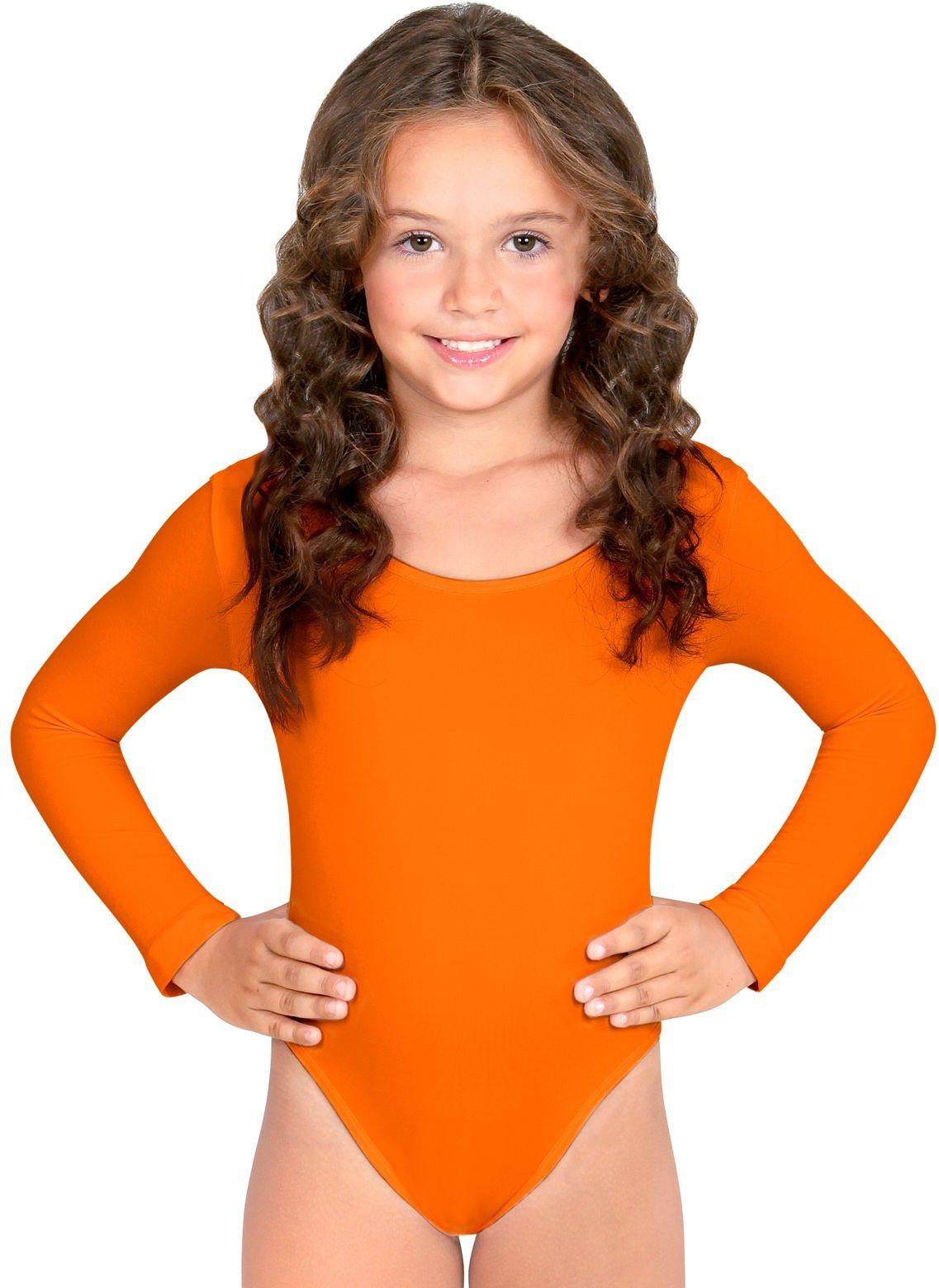 Turnpak meisjes oranje