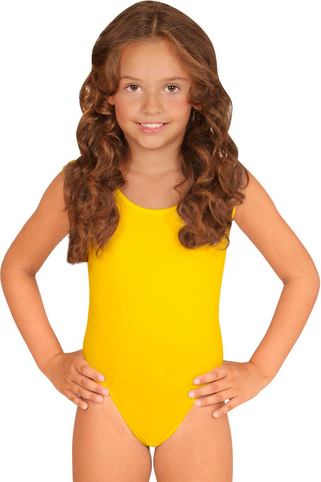 Turnpakje meisjes geel