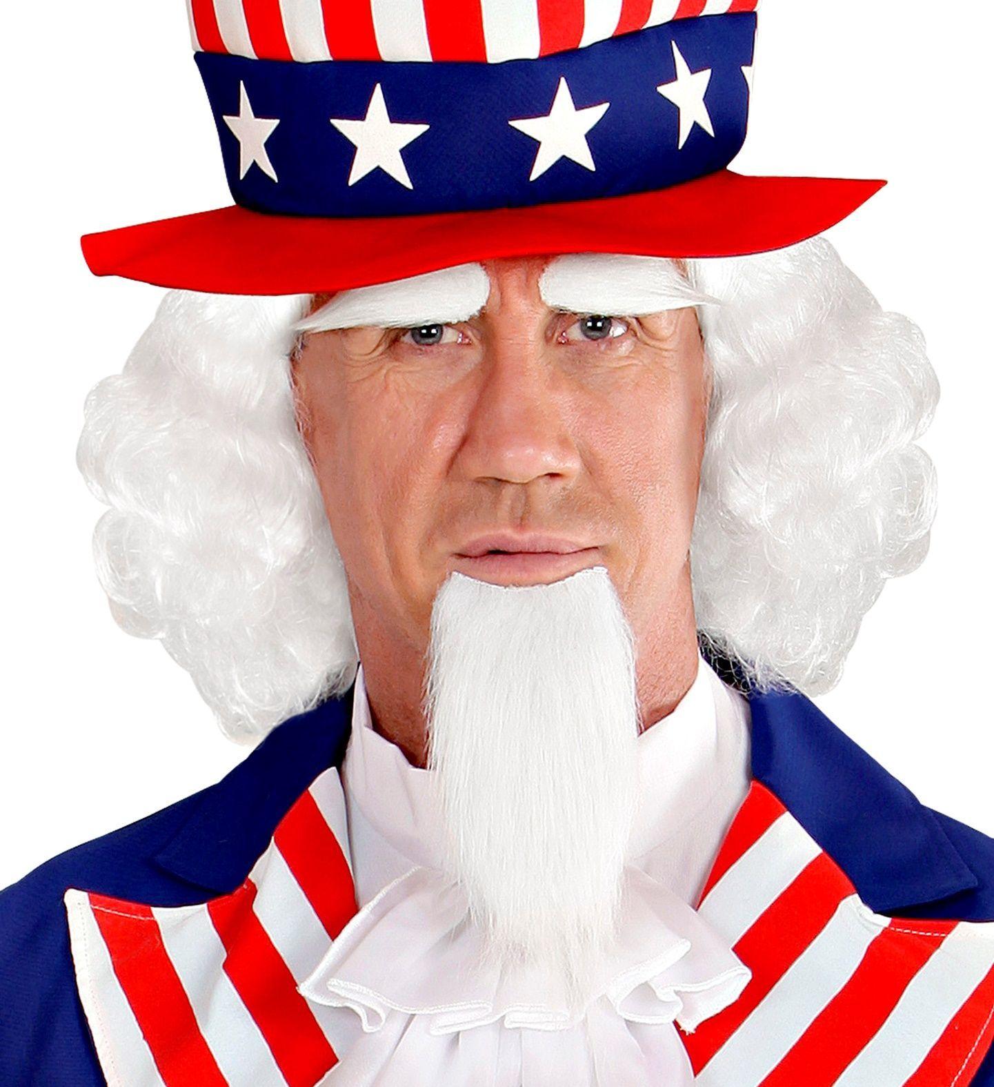Uncle Sam pruik, baard en wenkbrauwen