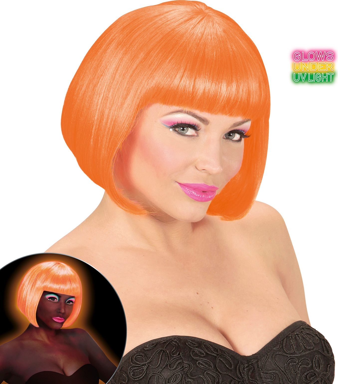 Valentijn pruik neon oranje