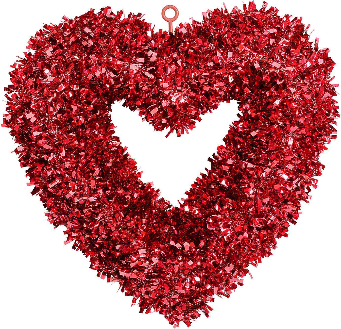 Valentijnsdag ophangbaar hart rood