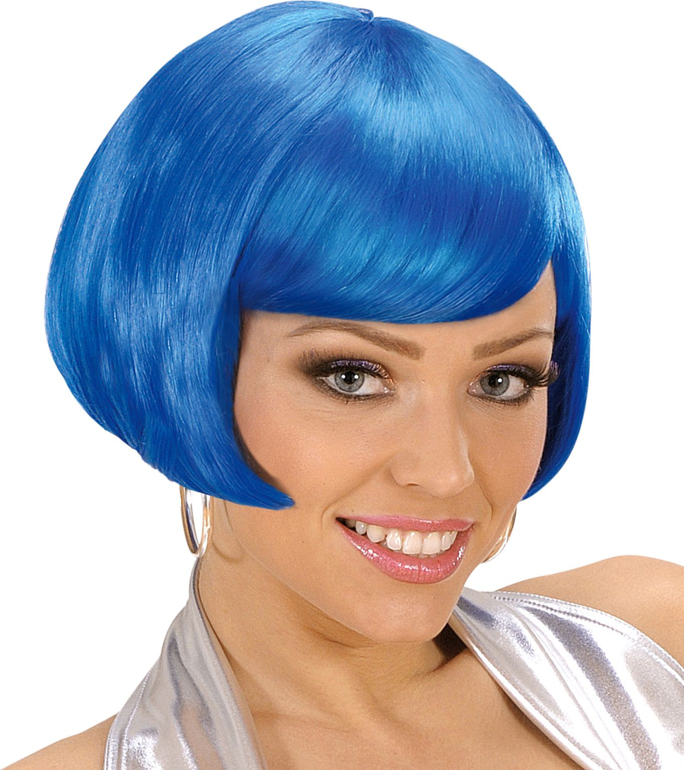 Valentina pruik blauw