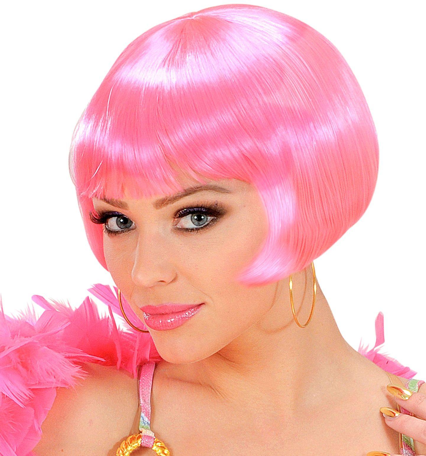 Valentina pruik roze