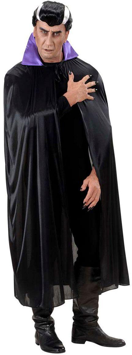 Vampier cape met paarse kraag