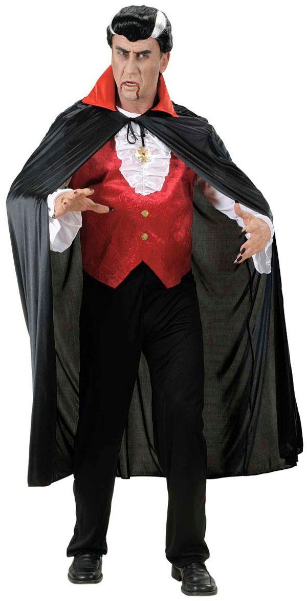 Vampier cape met rode kraag