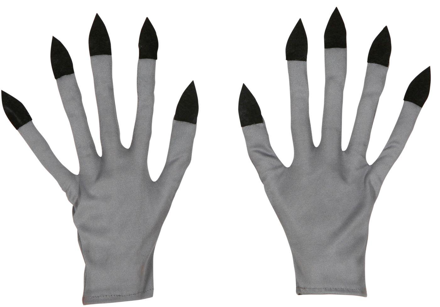 Vampier handschoenen zilver