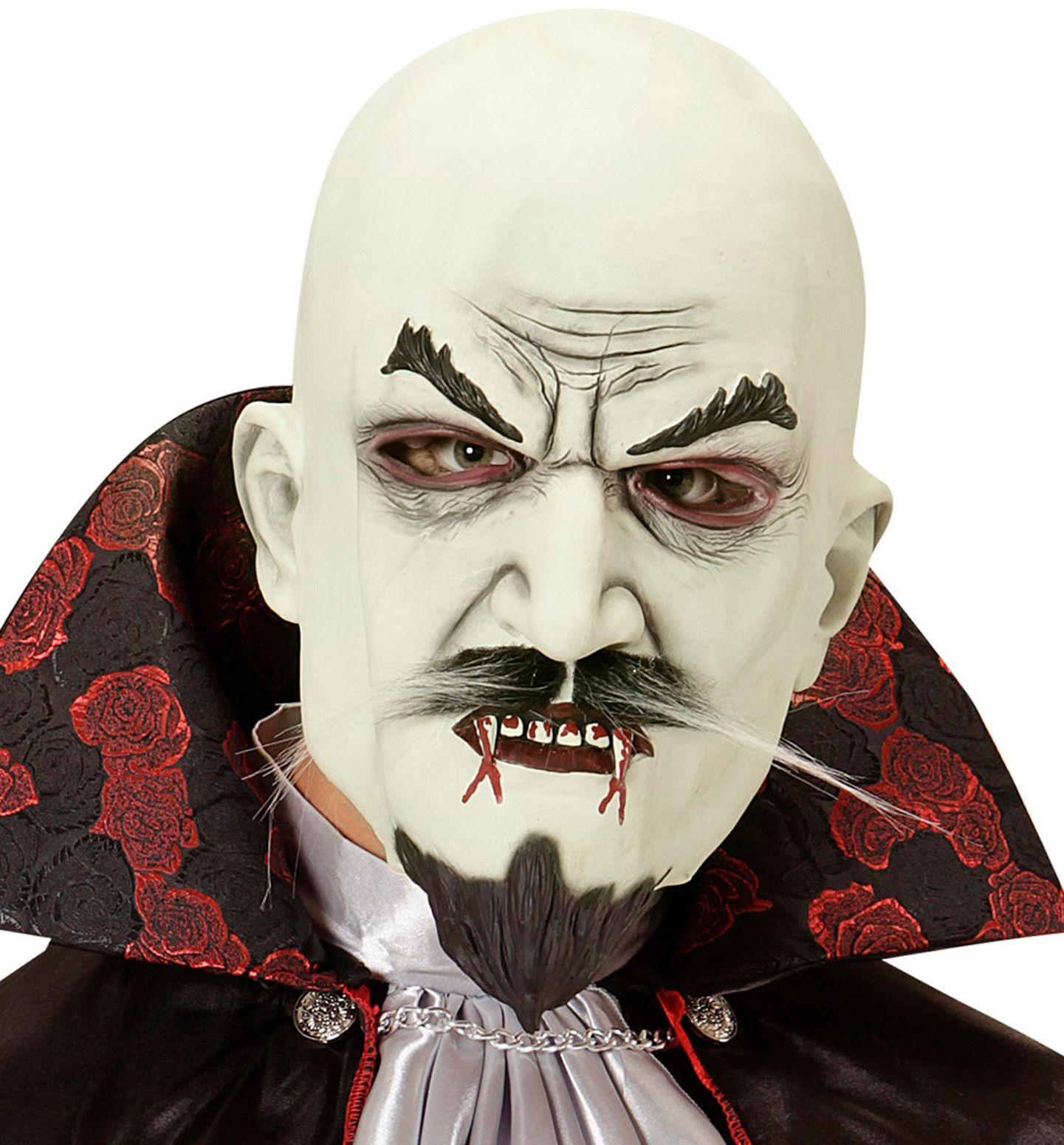 Vampier masker met snor en sik