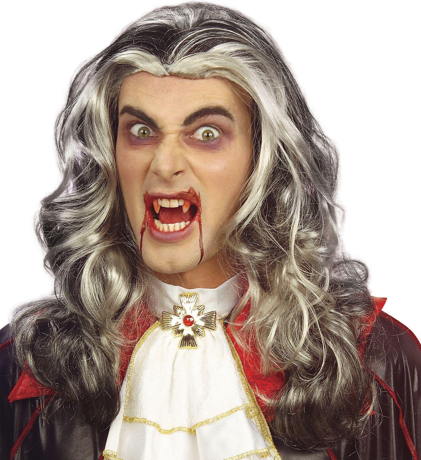 Vampier pruik lang haar