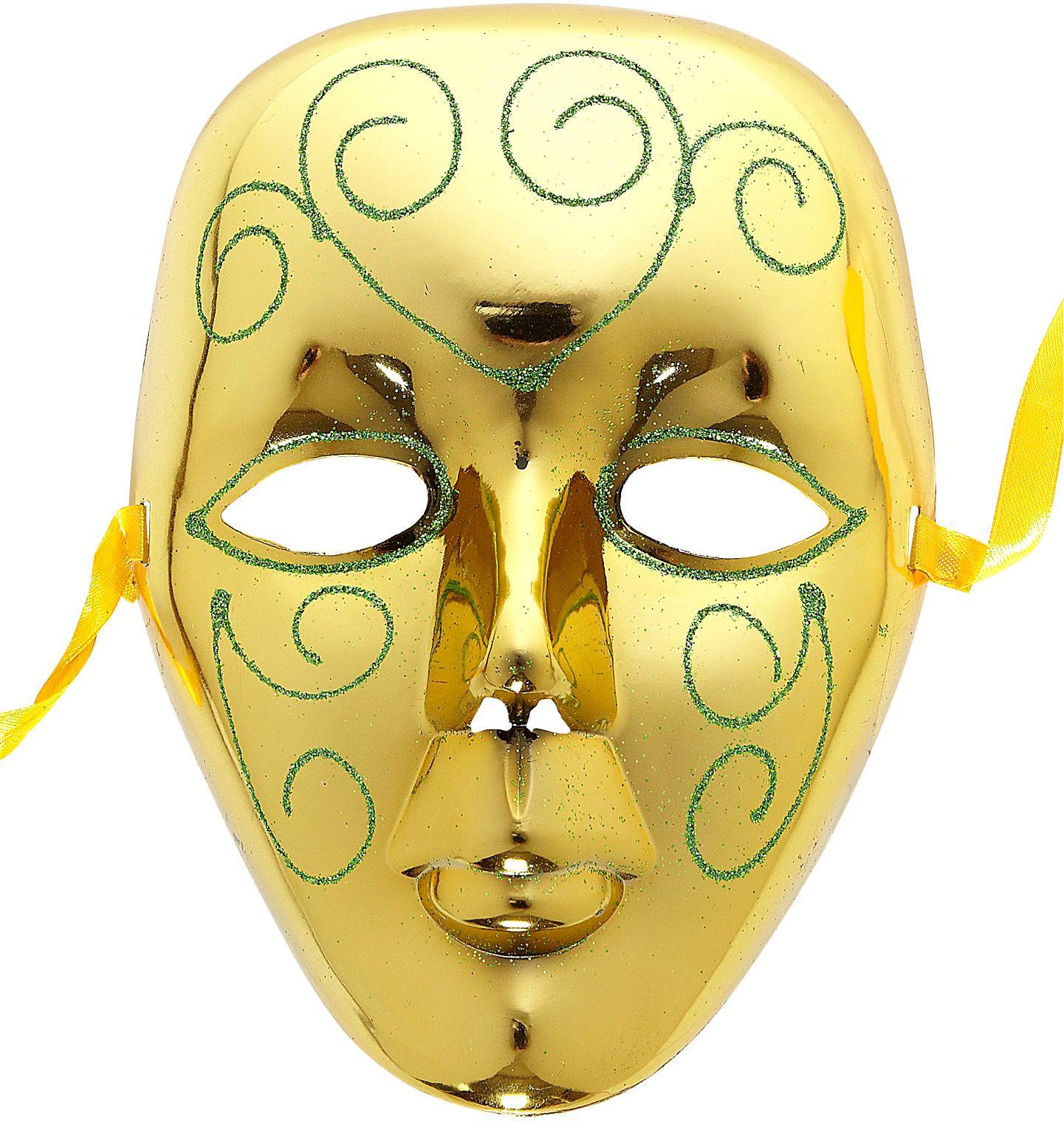Venetiaans masker goud met glitters