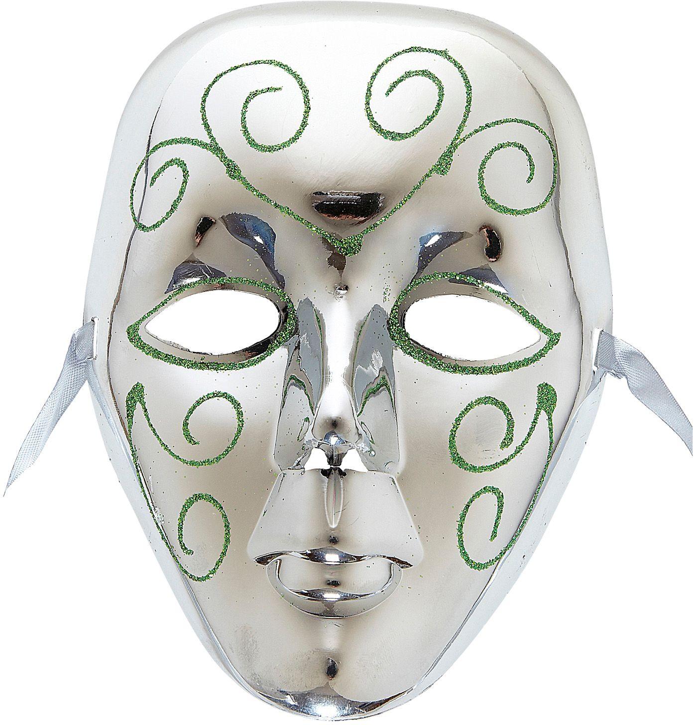 Venetiaans masker zilver met glitters
